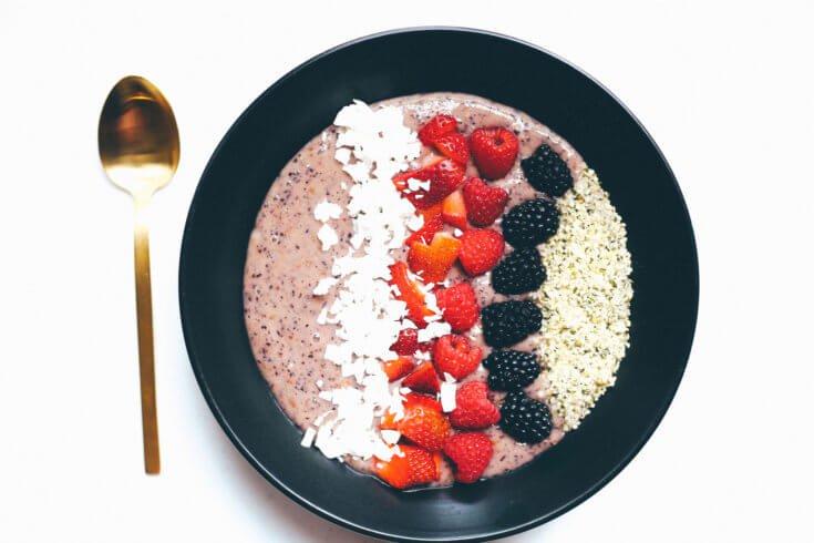 Coconut Yogurt Chia Seed Smoothie Bowl